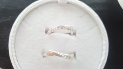 指輪にハートがついていて、彼女も気に入ってくれた