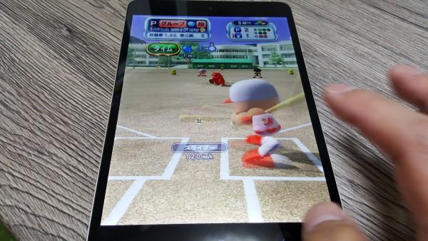パワプロにハマっていて、iPhoneより、mi Pad3だとさらに大画面で楽しめます