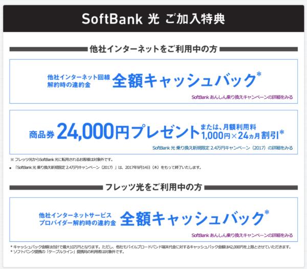ソフトバンク光・ソフトバンクAirの申し込みでキャッシュバック増額!-2
