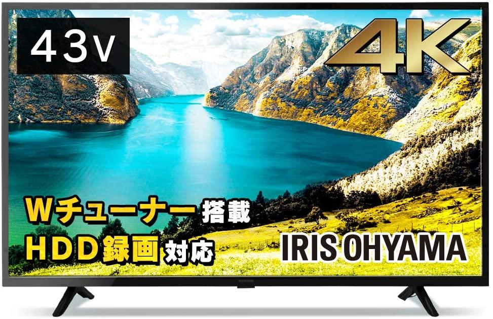 アイリスオーヤマの43型液晶テレビ:43UB10P